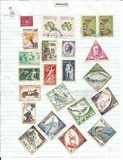 Monaco – 63 stamps mounted on pages