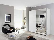 Schwebetürenschrank Subito, Kleiderschrank, Schrank, Weiß Spiegel 181 cm breit