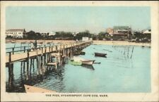 Hyannisport Cape Cod MA The Pier c1910 Postcard