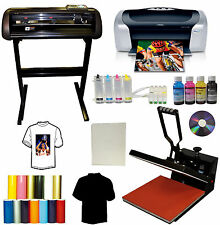 "15x15 Heat Press,24"" METAL Vinyl Cutter Plotter,Printer,CISS,Anti-UV Pigment Ink"