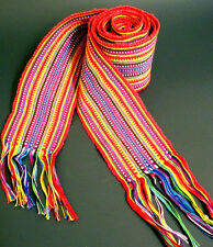 Mexico Guatemala Hand Woven Strip Tapestry Textile Sash Belt Unisex Vintage /New