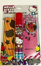 Hello kitty Color Hair Spray & Stencil Kit New FREE WORLDWIDE SHIPPING