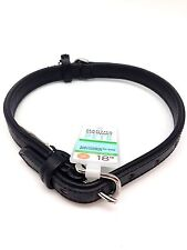 "Martha Stewart Pets Leather Dog Collar Soft Padded Comfort 18"" Medium Size Neck"