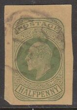 (H12-46) 1904 GB ½d green Edward VII cut out