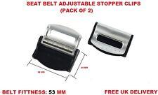 Cinturón De Seguridad Ajustable Asiento BMW De Plata Tapón Clip Coche Viaje 2PCS