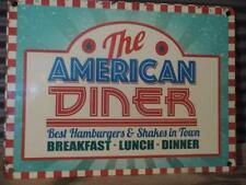 FABULOUS FIFTIES VINTAGE RETRO METAL WALL SIGN PLAQUE *THE AMERICAN DINER*