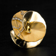 """ Carrera y Carrera """"DANZA"""" 18K Yellow Gold Maxi Diamond Ring. NEW"""