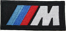 BMW M Power Logo Badge Embroidered Patch 10cm Sew-on or Iron-on