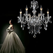 Crystal Chandelier D22 * H24 inch 6 Light Fixture Pendant Ceiling Lamp Elegant