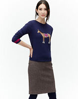 New Joules MARSHA PAINTED HORSE NAVY Ladies/Women's Intarsia Knit Jumper