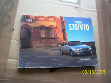 Volvo S70 V70 1999 Edition Owners Handbook TP 4328/1 or TP 4458/1