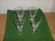"Set of 4 Vintage Tiffin Cut Crystal Franciscan Willow 5"" Stem Wine Glasses"