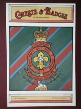 POSTCARD THE KING'S REGIMENT CREST BADGE OF THE ARMY