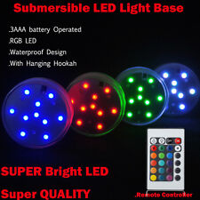 16Colors Waterproof Submersible LED Light Battery Operated w/ Remote Controller