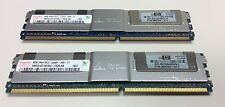 HP 413015-b21 398709-071 416474-001 16GB kit 2x8GB Sticks 2RX4 PC2-5300F MEMORY