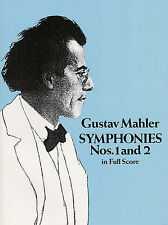 Gustav Mahler Symphonies Nos 1 And 2 Full Score Classical Sheet Music Book