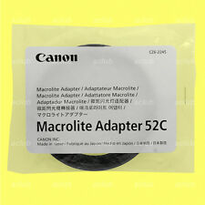 Genuine Canon Macrolite Adapter Ring 52C for MR-14EX MR-14EX II MT-24EX ML-3