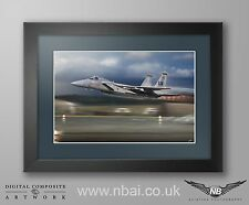 Framed 493rd Fighter Squadron F-15C, RAF Lakenheath Digital Artwork