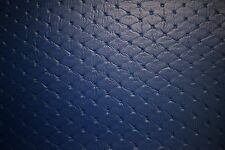 "Pac Blue Embossed Stitch Marine Outdoor Auto Fabric Boat Upholstery 54""W Vinyl"
