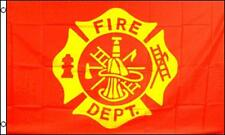 FIRE DEPARTMENT EMBLEM RED 3 X 5 FLAG FL736 axes hat fire fighter banner NEW
