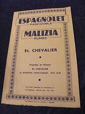 Partition Espagnolet Malizia Et Chavalier