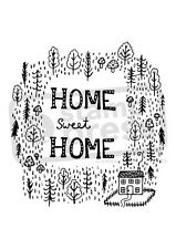 A7 'Home Sweet Home' Unmounted Rubber Stamp (SP005616)