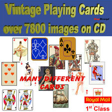 7800+ Vintage Playing Card Images on CD dozens of different packs Art & Crafts