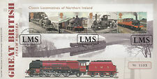 GB 2013 FDC Duchess Sutherland Name Plate Cover 4v Locomotives Northern Ireland
