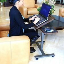 Mobile Laptop Desk Rolling Cart Pad Table Stand Computer Workstation Portable