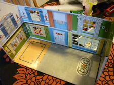 Vintage 1950s MAR tin Litho Colonial 2 Story Doll House