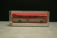 ORIGINAL BUSCH 1:87 SCALE '1959 GMC TDH-5301' DIE CAST CITY BUS 'RED' 44501