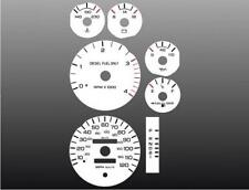 1994-1997 Dodge Ram DIESEL Dash Cluster White Face Gauges 94-97 Fits Cummins