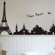 DIY Paris City Eiffel Tower Art Decal Mural Bedroom Wall Sticker Decor Removable