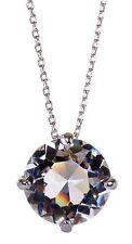 Swarovski Elements Crystal Brilliance Solitaire Pendant Necklace Rhodium 7155y