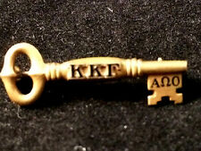 Kappa Kappa Gamma Badge 10k Matte Yellow Gold 1966 Sorority Greek Society Pin