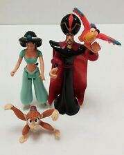Lot of 4 Disney Aladdin PVC Figures Princess Jasmin Abu Monkey Jafar Lago Parrot