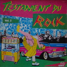 TESTAMENT DU ROCK VOL.5 VOISIN ARTWORK JUKE BOX CAR COMPIL FRENCH LP