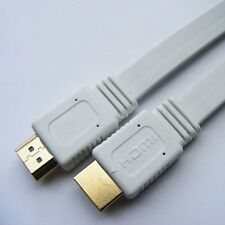 1.5M 3M 5M 10M V1.4 Flat HDMI Cable M to M For BLURAY 3D DVD PS3 HDTV XBOX 360