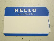 "25 BLUE ""HELLO MY NAME IS"" NAME TAGS LABELS BADGES STICKERS PEEL STICK ADHESIVE"