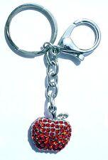 Schlüsselanhänger roter Apfel mit Strass