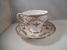 Vintage Royal Standard Antoinette Bone China Teacup Tea Cup & Saucer England