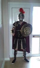 California Roman Gladiator Costume + Sword & Shield + Helmet & Plume - SMALL