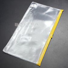 3 Pcs A6 Paper File Folder Book Pencil Pen Case Bag Pouch Plastic Clear Perfect