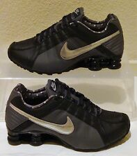 New Nike Shoes Shox Junior Black Silver Womens US Size 8.5 UK 6 EUR 40 CM 25.5