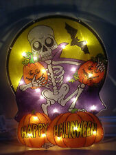 Halloween Large 50cm Skeleton/Pumpkin Silhouette Light/Window/20 bulbs