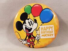 Disney Parks Happy Birthday Mickey Walt Disney World Disneyland Button Pin Badge