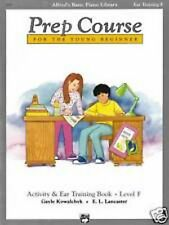 Prep Course For The Young Beginner Activity & Ear Training Level F Book S142