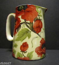 Heron Cross Pottery Poppy Chintz English 1/2 Pint Milk Jug