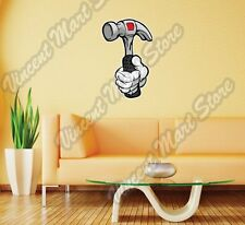 """Hand Hold Home Repair Tool Hammer Gift Wall Sticker Room Interior Decor 14""""X25"""""""