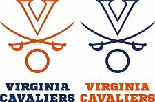 UVA Virginia Cavaliers Cornhole Set of 6 Vinyl Decal Stickers Bean Bag Toss